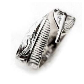 ハワイアンジュエリー リング 指輪 レディース 女性 メンズ 男性 [Maxi]マキシ カットアウト・フェザーリング9mm シルバー 925 mxri0368sv プレゼント ギフト