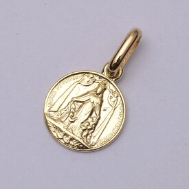 k18ネックレス ゴールドネックレス (RERALUy)ネックレス レディース 女性 メンズ 男性 アクセサリー K18ゴールド・アンティークスタイル メダイ ラウンド ペンダント トップ ガリアーノ (付属チェーンなし) rpd0142 gold necklace