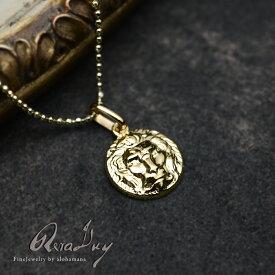 k18ネックレス ゴールドネックレス (RERALUy)ネックレス レディース 女性 メンズ 男性 アクセサリー K18ゴールド・アンティークスタイル メダイ ラウンド ペンダント トップ ガリアーノ (付属チェーンなし) rpd0164 gold necklace