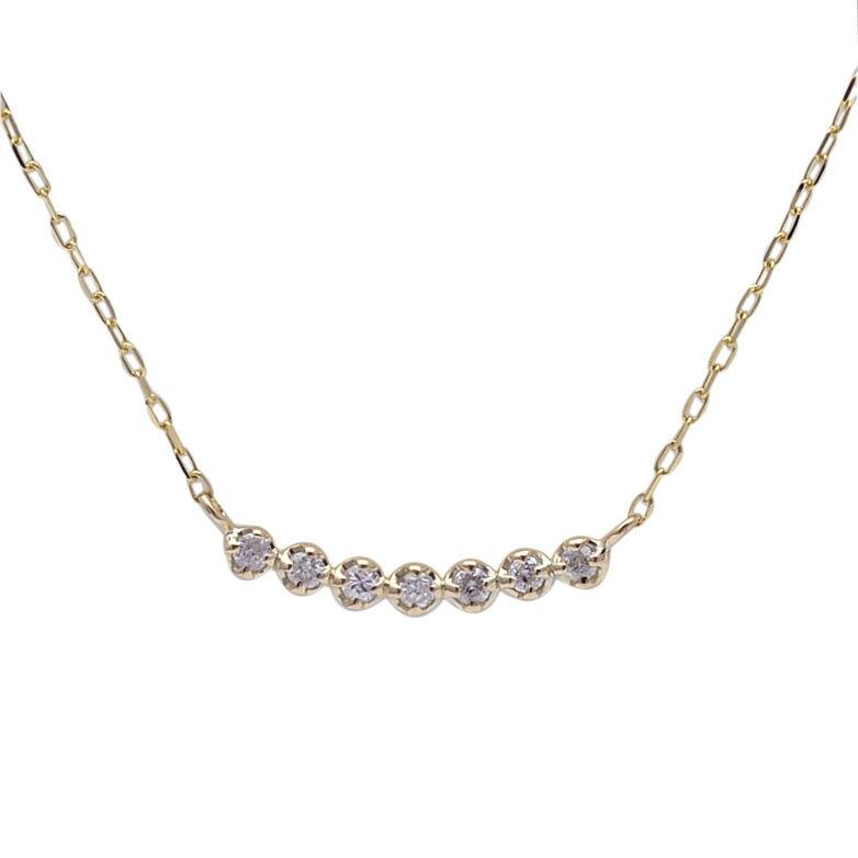 (RERALUy)ネックレス レディース 女性 アクセサリー 10金 K10 18金 K18 18k イエローゴールド ・ライン ダイヤモンド 0.07ct バー ペンダント ネックレス rpd1271/ クリスマス プレゼント