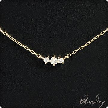 (RERALUy)ネックレス レディース 女性 アクセサリー K10 10金 ゴールド・スリー ダイヤモンド 0.06ct イエローゴールド シンプル 華奢 ネックレス rpd9335 ホワイトデー プレゼント ギフト