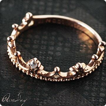 (RERALUy)ティアラ リング 指輪 レディース 女性 K10 ピンクゴールド ダイヤモンド プチティアラ ゴールドリング クラウン 王冠 ピンキー ピンキーリング ・ファランジリング rri1318 ホワイトデー プレゼント ギフト