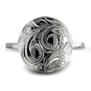 ハワイアンジュエリー リング 指輪 レディース 女性(Weliana) ラウンド スクロール シルバーリング コイン モチーフ シルバー 925 wri1231 プレゼント ギフト