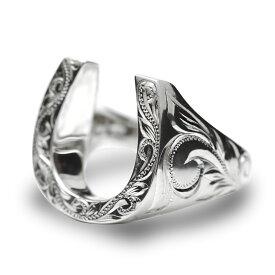 ハワイアンジュエリー リング 指輪 レディース 女性 メンズ 男性(Weliana) グラマラス ホースシュー 馬蹄 シルバーリング SILVER925 wri1372/ プレゼント ギフト