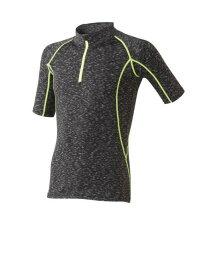 【送料無料!!】HUMMER ハマー 接触冷感・消臭機能・反射プリント クールコンプレッション 半袖ジップTシャツ