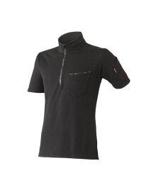 【送料無料!!】HUMMER ハマー 消臭機能付き ヘビーウェイト メンズ 形状安定 極厚半袖ジップTシャツ