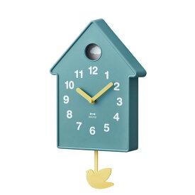 掛け時計 壁時計 振り子時計 BURUNO ブルーノ バードモビールクロック ブルー BCW034