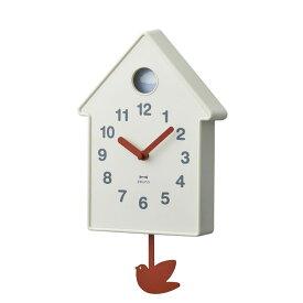 掛け時計 壁時計 振り子時計 BURUNO ブルーノ バードモビールクロック アイボリー BCW034