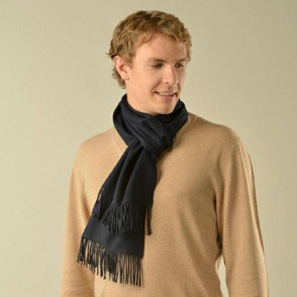 (送料無料)新着商品 世界最高位の毛織物「ビクーニャ」の高級マフラー ネイビー(濃紺)