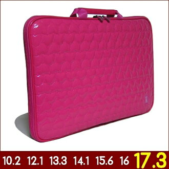 17.3-inch ♪ cute quilted heart-shaped PC cases! perfect computer case!  fashionable for ladies and women laptop bag also! 4fe64dddd