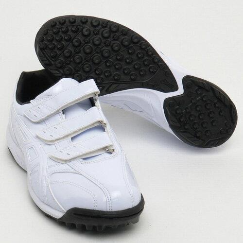 アシックス(asics) ジュニア 野球トレーニングシューズ 少年:ホワイト×ホワイト(BEAMINGLUSTER TR SFT142)