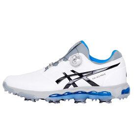 アシックス ゲルエース プロ X ボア TGN922 メンズ ゴルフ ダイヤル式スパイクシューズ GEL-ACE PRO X Boa ホワイト×ブルー asics