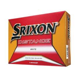 スリクソン 2018 SRIXON ディスタンス ホワイト 1ダース(12球入) ゴルフ ボール SRIXON