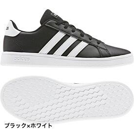 アディダス グランドコート K GRANDCOURT K (EF0102) レディース スニーカー : ブラック×ホワイト adidas 191011shoes dealshoes