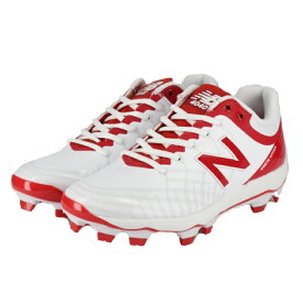 ニューバランス PL4040V5 (PL4040D) メンズ 野球 スパイクシューズ D : ホワイト×レッド New Balance 0604point