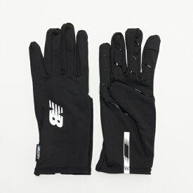 ニューバランス トレーニング ニットグローブ スマホ対応 (MG934314 BSI) 手袋 : ブラック×シルバー New Balance
