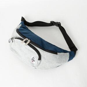 チャムス Fanny Pack Sweat Nylon (CH60-2677 G019) トレッキング バックパック : H-Gray/Basic Navy CHUMS