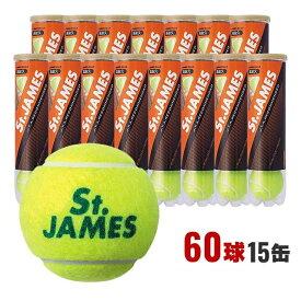 ダンロップ テニスボール セントジェームス (St.JAMES) 硬式テニス ボール (4球X15缶=60球)(STJAMESI4C) プレッシャーボール DUNLOP