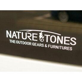 【3/1限定】買えば買うほど★最大10%OFFクーポン ネイチャートーンズ カッテイングステッカー Lサイズ ホワイト (CSNT-L-W) キャンプ 小物 Nature tones