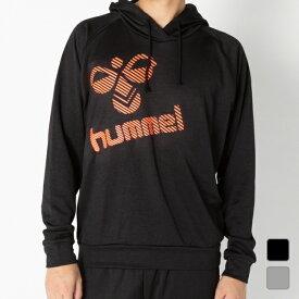 ヒュンメル メンズ レディース ハンドボール ウォームアップシャツ ウラケスウェットパーカー (HAY7048) hummel