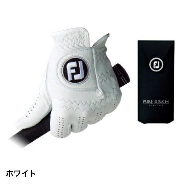 フットジョイ PURE TOUCH TOUR LIMITED ピュアタッチ (FGPU) :ホワイト ゴルフグローブ 手袋 左手 メンズ golf5