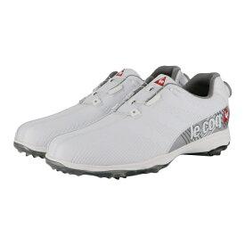 ルコック (QQ2NJA01) メンズ ゴルフ ダイヤル式スパイクシューズ : ホワイト le coq sportif
