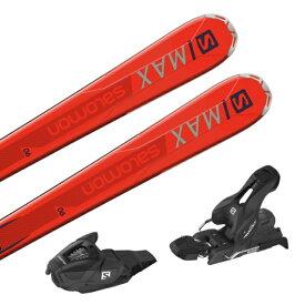 【53%OFF】 サロモン S/MAX 6 + LITHIUM 10 (L40533200162/L4050880010) スキー 板 金具付き : オレンジ×ブラック SALOMON 【取付無料】
