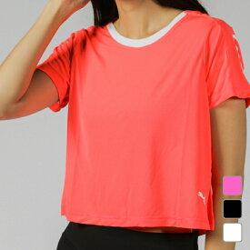 プーマ レディース Tシャツ 半袖Tシャツ BE BOLD ロゴグラフィック SS Tシャツ 518760 フィットネス スポーツウェア ヨガウェア PUMA 0604point