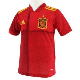 アディダス ジュニア(キッズ・子供) サッカー/フットサル ライセンスシャツ Kidsスペイン代表 ホームレプリカユニフォーム半袖 (FI6237) : レッド adidas