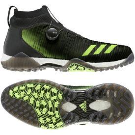 アディダス ゴルフシューズ コードカオス ボア (EPC16) メンズ ゴルフ ダイヤル式スパイクレスシューズ 2E ブラック×グリーン adidas