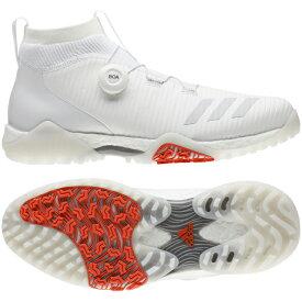 アディダス ゴルフシューズ コードカオス ボア (EPC16) メンズ ゴルフ ダイヤル式スパイクレスシューズ 2E ホワイト adidas