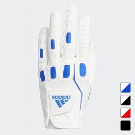 【10/20】買えば買うほど★最大10%OFFクーポン アディダス ゴルフ グローブ マルチフィット9 ロングセラーシリーズ グローブ メンズ ホワイト×ブルー (GUX35) adidas
