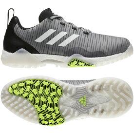 【3/1限定】買えば買うほど★最大10%OFFクーポン アディダス ゴルフシューズ コードカオス (EPC15) メンズ ゴルフ シューレース式スパイクレスシューズ 2E グレー adidas