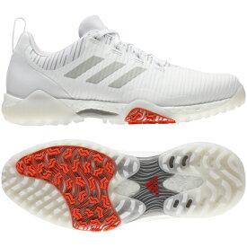 アディダス ゴルフシューズ コードカオス (EPC15) メンズ ゴルフ シューレース式スパイクレスシューズ 2E ホワイト adidas