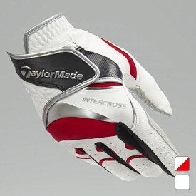 【7/30〜8/2】 買えば買うほど★ 最大10%OFFクーポン テーラーメイド 右手用 ゴルフ グローブ インタークロス 4.0 RH ライトハンド (CCN47) Wフローティングテクノロジー グローブ ホワイト TaylorMade