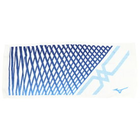 【10/25はエントリーでP10倍!】 ミズノ タオル フェイスタオル 34cm×80 箱入り 32JY0102 01 今治タオル : ホワイト×ブルー MIZUNO