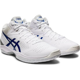 アシックス ゲルフープ V12 GELHOOP 1063A021 100 メンズ レディース バスケットボール シューズ 2E : ホワイト×ブルー バッシュ 白 asics