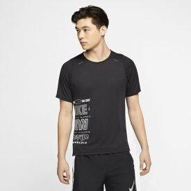 ナイキ メンズ 陸上 ランニング 半袖Tシャツ AS M NK WILD RUN RISE 365 TOP CK0678 010 : ブラック×ホワイト NIKE