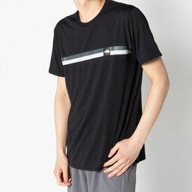 ノースフェイス メンズ 陸上 ランニング 半袖Tシャツ S/S BOX LG LINE T NT32086 K : ブラック THE NORTH FACE
