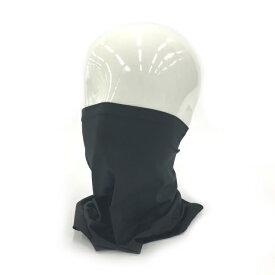 【12/5はエントリーでP10倍!】 ティゴラ ランニング フェイスマスク ネックカバー TR-3R3010NC ネックゲイター 吸水速乾 ストレッチ UVカット 男女兼用:ブラック TIGORA