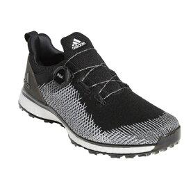 アディダス ゴルフシューズ フォージファイバー ボア メンズ ゴルフ ダイヤル式スパイクレスシューズ 2E ブラック (BTE44) adidas