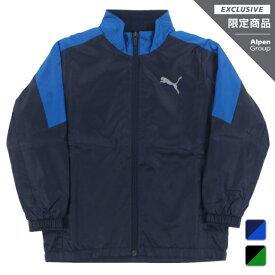 プーマ ジュニア キッズ 子供 ウインドジャケット トレーニング ウラトリコット ウーブン ジャケット B 584966 スポーツウェア PUMA