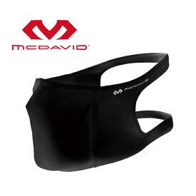 【12/5はエントリーでP10倍!】 マクダビッド スポーツ フェイスマスク MA90170 BK 3層構造 ワイドサポート 吸汗速乾 ストレッチ UVカット マスク : ブラック McDavid