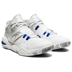 アシックス INVADE NOVA 1061A029 100 メンズ バスケットボール シューズ バッシュ 2E : ホワイト×ブルー 白 asics