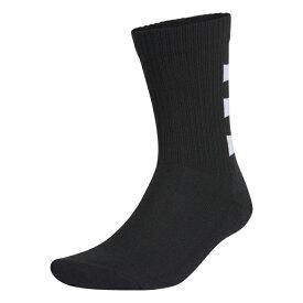 アディダス 3P ソックス 3ストライプス クルーソックス3PP GE6163 3足組 靴下 : ブラック adidas 191011aparel 210903inner