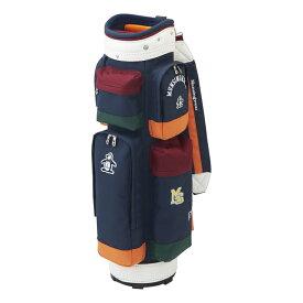 【3/1限定】買えば買うほど★最大10%OFFクーポン マンシングウェア レディース キャディバッグ 8.5型 (MQCQJJ01) 多色使いのカラーブロックが特徴 軽量レディースモデルゴルフ ネイビー Munsingwear
