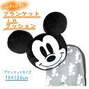 ディズニー ふわふわ ブランケット イン クッション DN-9C28030BL ミッキーマウス キャラクター ひざ掛け 防寒 Disney