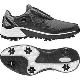 アディダス ゴルフシューズ ZG ゼットジー21 ボア (KZI02) メンズ ゴルフ ダイヤル式スパイクシューズ 3E ブラック adidas