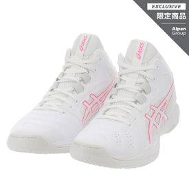 アシックス アルペン・スポーツデポ限定 ゲル フープ GELHOOP V13 1063A053 メンズ レディース バスケットボール シューズ バッシュ 2E : ホワイト×ピンク asics
