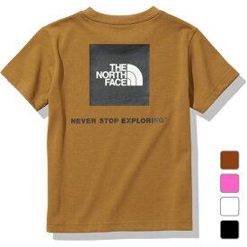 【6/20】 買えば買うほど★ 最大10%OFFクーポン 2021春夏 ノースフェイス ジュニア キッズ 子供 半袖Tシャツ S/S Square Logo Tee ショートスリーブスクエアロゴティー NTJ32142 THE NORTH FACE